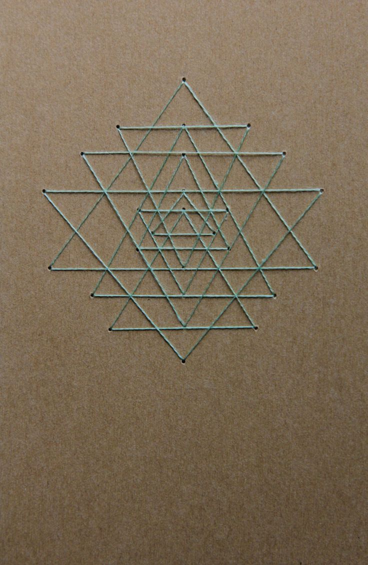 Ladder of Triangularity Notebook/Journal/Sketchbook - Sacred Geometry : Beige with Mint-Green Thread by TheInfiniteThread on Etsy