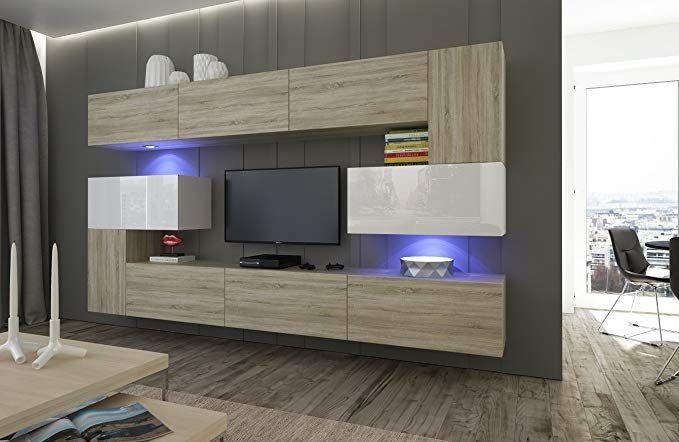 Home Direct Albania N3, Modernes Wohnzimmer, Wohnwände, Wohnschränke
