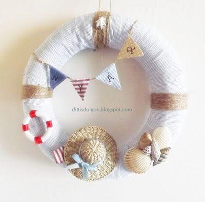 nyári koszorú, summer wreath