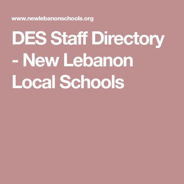 DES Staff Directory - New Lebanon Local Schools