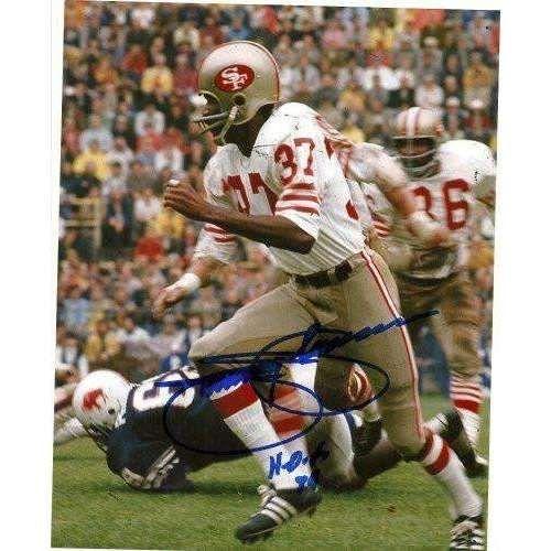 JIMMY JOHNSON SAN FRANCISCO 49ERS,HALL OF FAME,HOF,SIGNED,AUTOGRAPHED 8X10,PHOTO,COA
