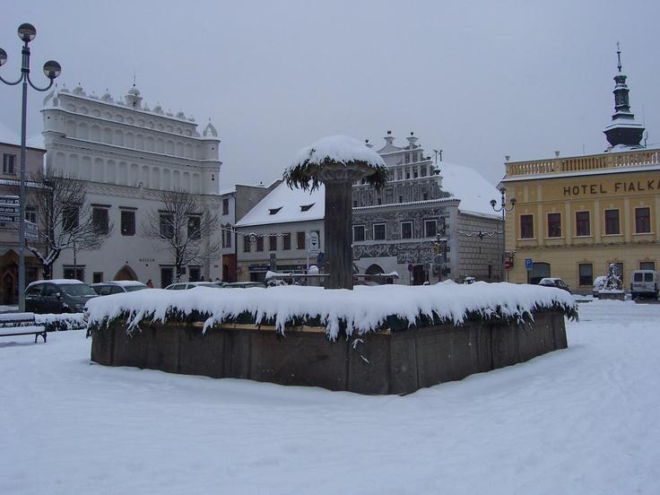 Sušice (Schuttenhofen) under the snow