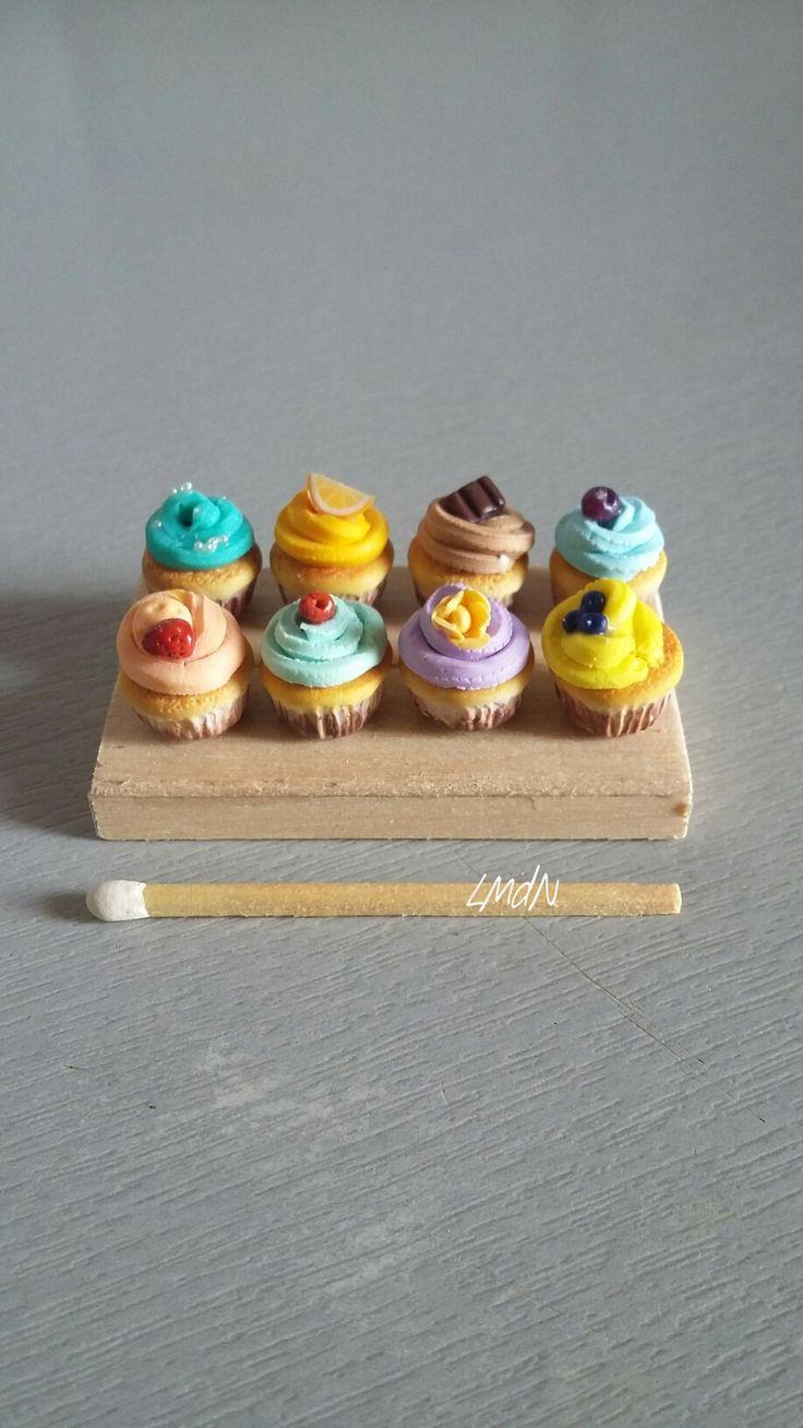 "DIY miniature roombox ""Summer Cafè"" 1/12 cupcake"