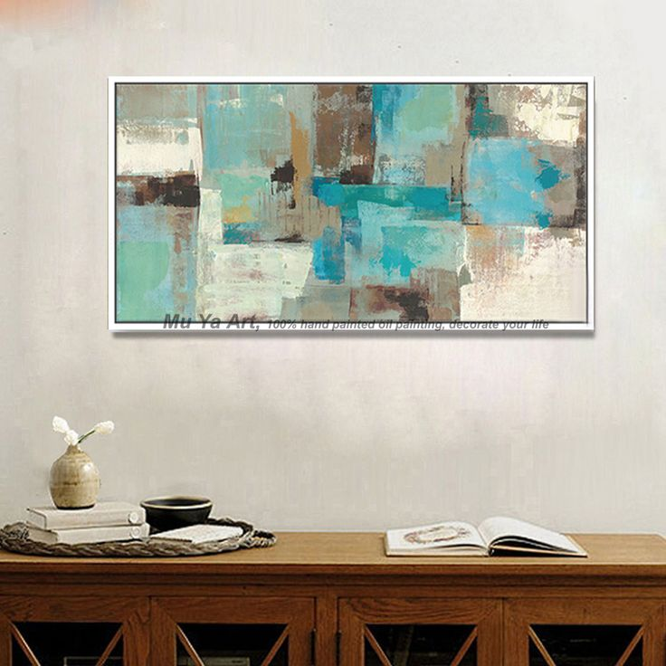 >> Click to Buy << large wall pictures for living room modern abstract decorative panels blue acrylic handmade oil painting on canvas bedroom  #Affiliate