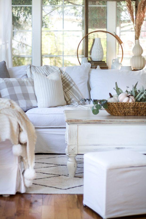 White home decor cottage living