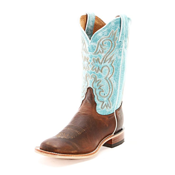 Tony Lama Womens Worn Goat Leather Cowgirl Boots Chocolate