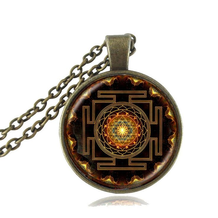 This sacred symbol is mounted on a high-quality glass gem. The Sri Yantra is one of the most powerful Yantras in the world symbolizing the creation of the Universe. Enhance your abundance with the pow