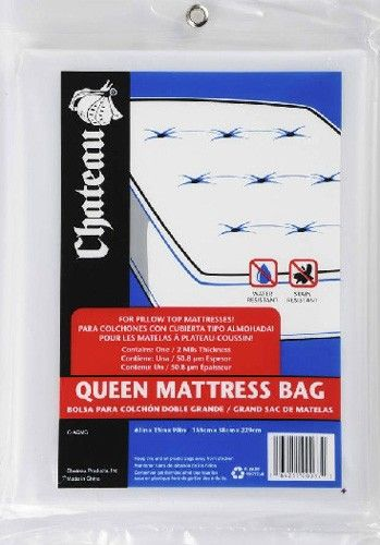 Plastic Queen Mattress Covers For Moving With 2 Mil Thick Slip
