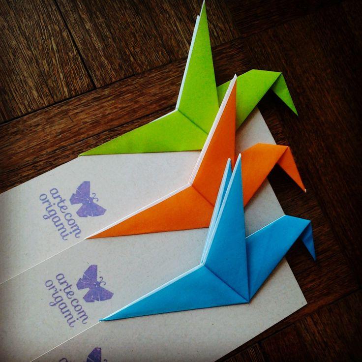 Marcador de página #origami #beijaflor #colibri