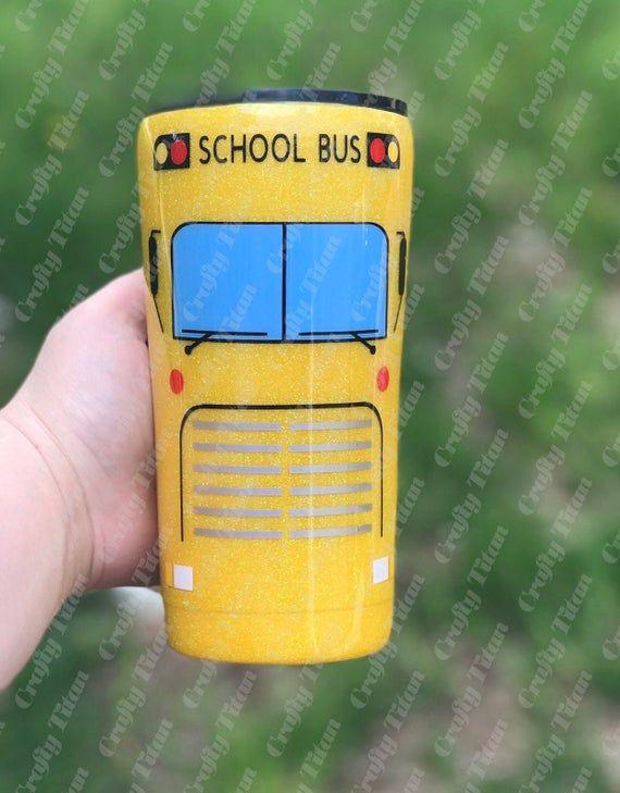 Custom School Bus Tumbler Bus Driver Tumbler School Bus Bus Driver Bus