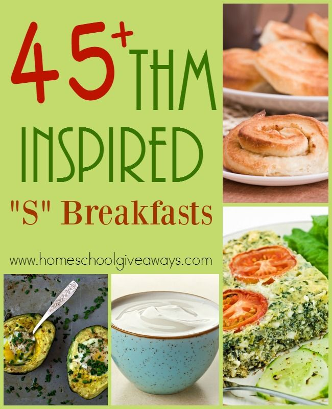 """If you're looking for some great recipes to follow along with the THM lifestyle, check out these """"S"""" Breakfasts! :: www.homeschoolgiveaways.com"""