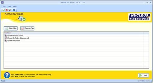 Screenshots - Kernel for Base - Base Software - Screenshots - Kernel for Base - Screenshots - Kernel for Base OpenOffice File Repair Software