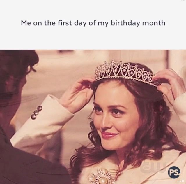 Me on the first day of my birthday month