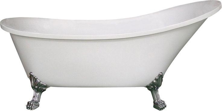 </br> <p><b>Produktbeskrivelse:</b></p> <p>Celeste Catania er et frittstående badekar i eksklusivt klassisk design. Badekaret leveres med justerbare løveføtter i aluminium og push-up bunnventil. Badekaret i hvit akryl har høy slitestyrke med en blank ov