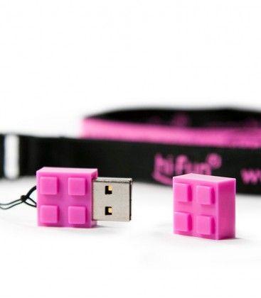 Clé USB brique violette 4 Go hi-Fun
