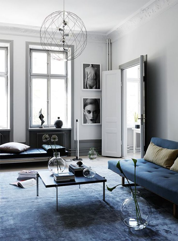 Die besten 25+ schwarzer Sofa Dekor Ideen auf Pinterest - wohnzimmer blau grau