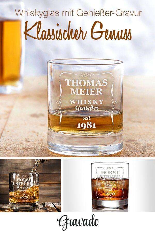 Whiskyglas mit Gravur - Klassisch - Personalisiert | MÄNNER ...