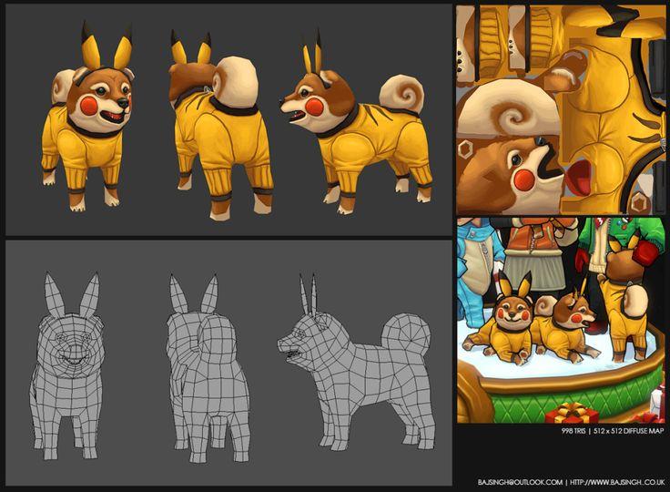 pikachu-dog-wireframe