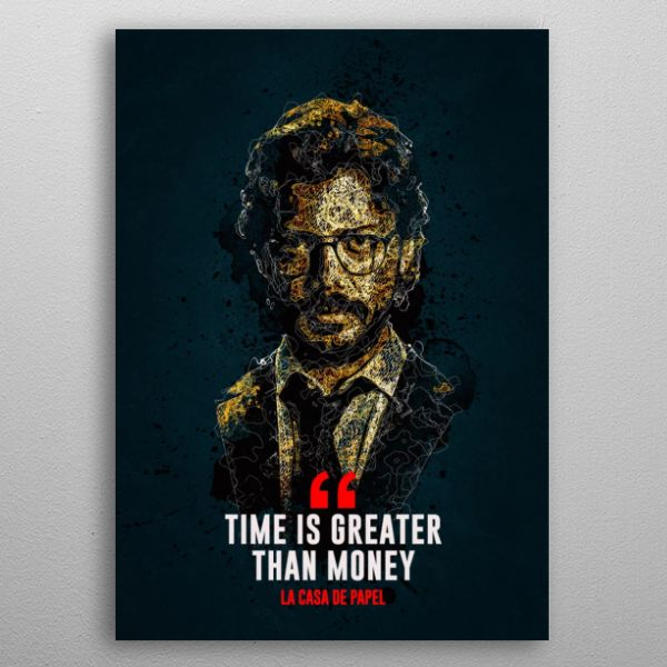 Professor Money Heist Poster Print By Is Rough Displate In 2020 Abstract Poster Poster Prints Poster