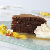 Dig into a decadent #chocolate #cake made in a jiffy using a microwave.