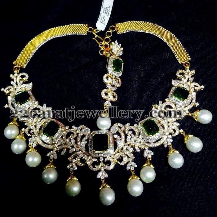 Diamond South Indian Jewellery: Diamond Choker About 11 Lakhs