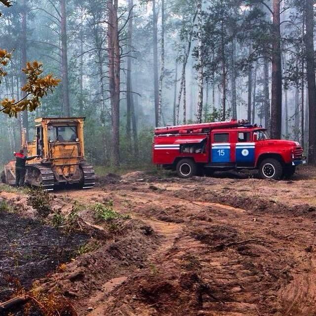 Forest  #fire in  #Chernobyl exlcusion zone.  Visit  #Chernobyl  #Pripyat  during  #Chernobyltour