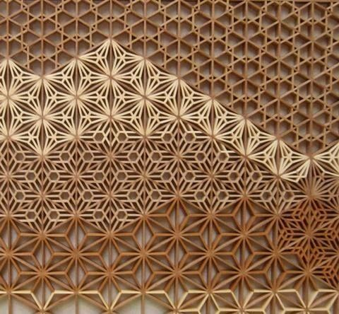 """Arch2O.com - The """"Kumiko"""" woodwork technique was developed in..."""