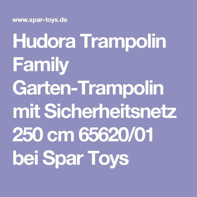 Hudora Trampolin Family Garten-Trampolin mit Sicherheitsnetz 250 cm 65620/01 bei Spar Toys