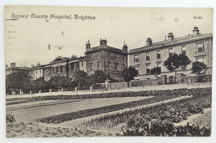 Sussex County Hospital, postcard mailed in 1913