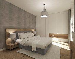Średnia sypialnia małżeńska, styl nowoczesny - zdjęcie od 4ma projekt