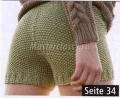 вязание шорты цвета хаки спицами своими руками мастер-класс с фото