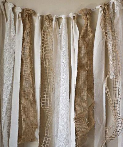 cortina de tiras de tela cm