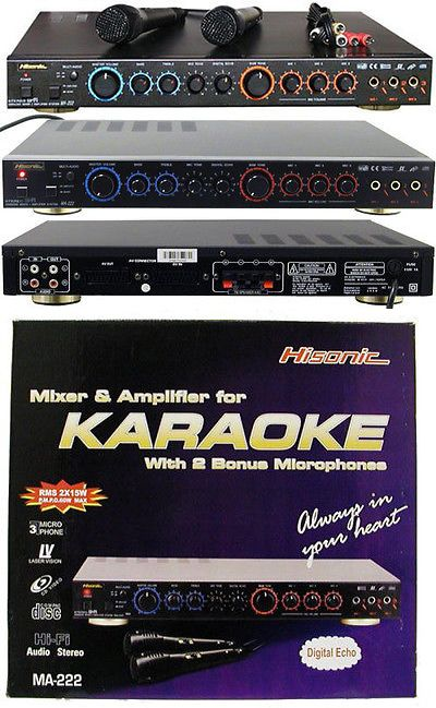Amplifiers and Preamps: Hisonic Ma222 Karaoke Mixer Dual 2 X 35 Watts (Pmp) Amplifier BUY IT NOW ONLY: $59.99