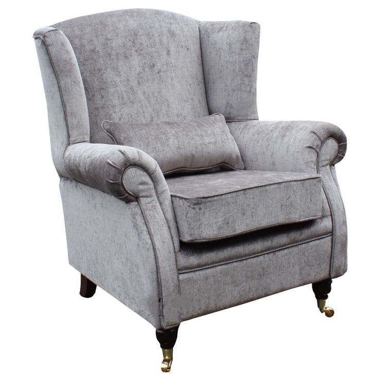Wing Chair Fireside High Back Armchair Belvedere Pewter ...