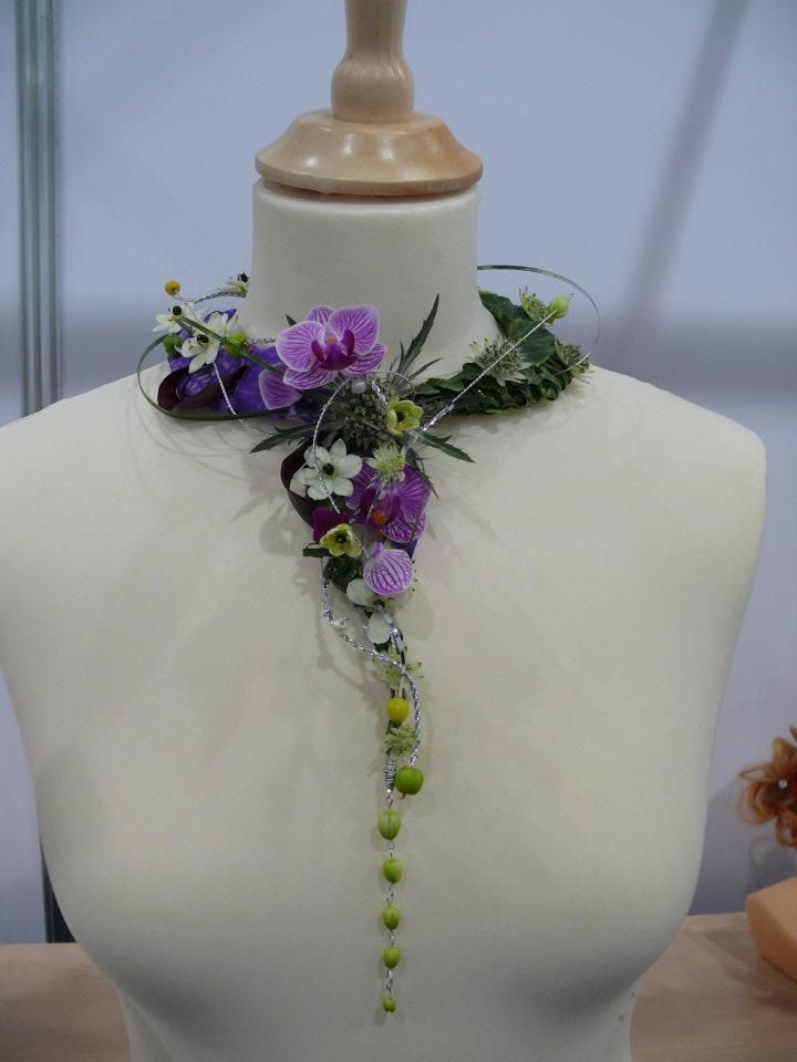 Floral Necklace...given your metal allergies, and also your love of wildflowers, this made me think of you!