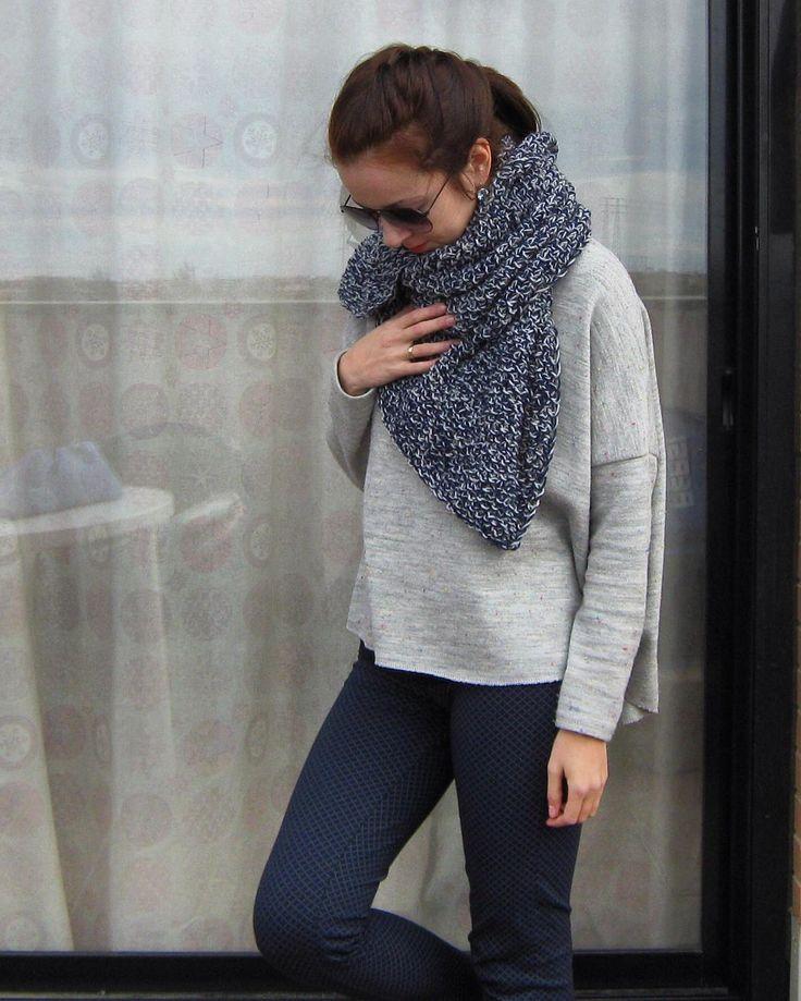 Последний шарф в этом сезоне. Для Марины.
