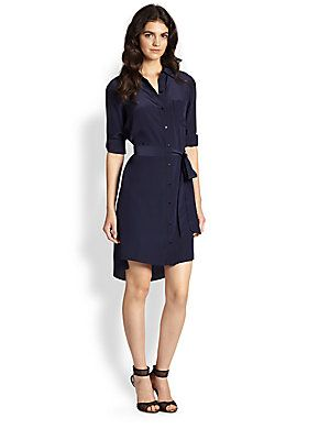 Diane+von+Furstenberg Prita+Dark+Moon+Silk+Shirtdress