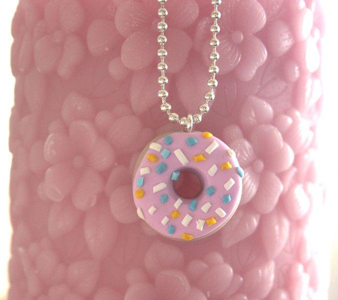 Kawaii & Candy Ketten - Süße Kette Donut - ein Designerstück von MIO-O bei DaWanda