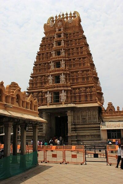 File:View of gopura from inside the Srikanteshwara temple complex at Nanjangud.JPG