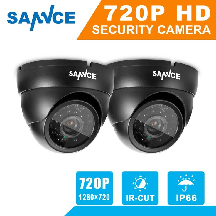 51.69$  Buy here - http://alih4h.shopchina.info/go.php?t=32698841688 - SANNCE 2pcs AHD 720P HD 1.0MP high resolution CCTV Security Cameras H.264 Waterproof Indoor/ Outdoor Surveillance Cameras set 51.69$ #aliexpressideas