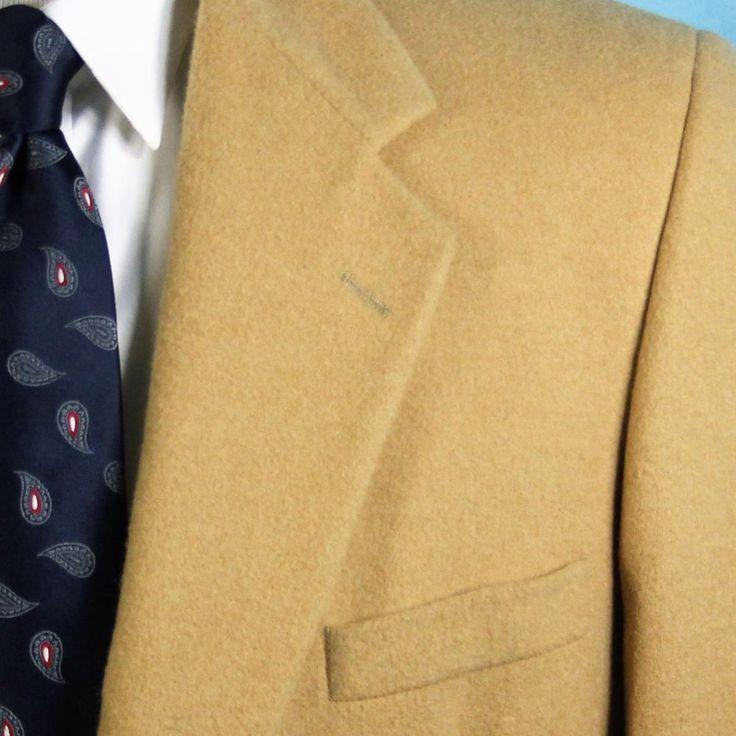 British Guard Men's 46 XL 100% Camel Hair Blazer Sport Coat ICONIC Jacket NICE #BritishGuard #TwoButton