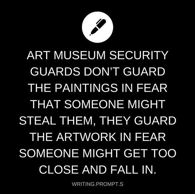 One day, you get too close and the guards are too late.