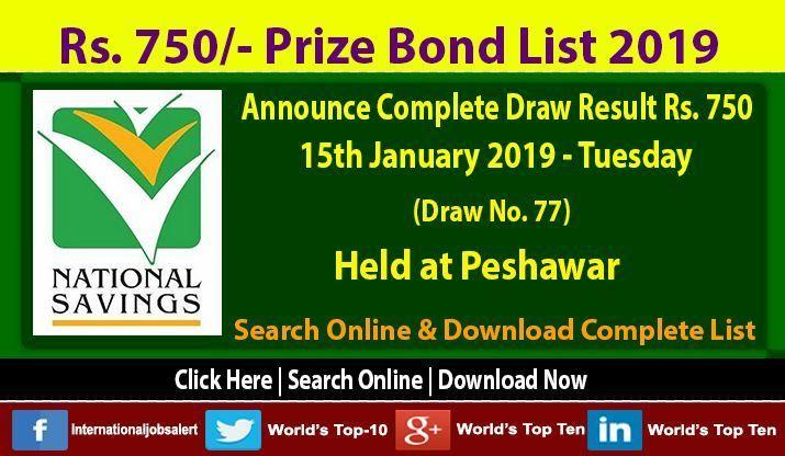 Prize bond 1500 check online 2020