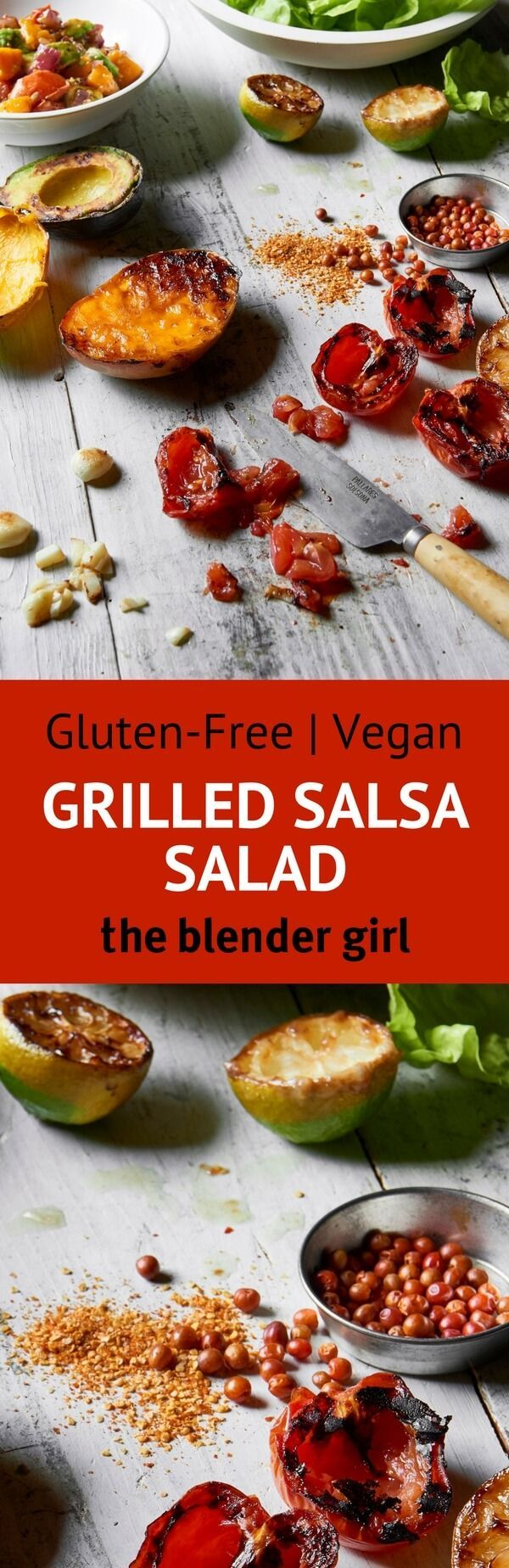 Grilled Vegetable Salad | Grilled Bell Pepper Salad | The Blender Girl #grilledvegetablesalad #salad #grilledbellpeppers #grilledvegetables
