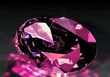 The (fictitious) Pink Panther Diamond, so named for the tiny discoloration within it resembling a leaping pink panther...☺