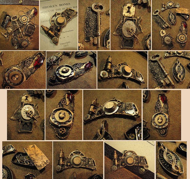 steampunk clay art - what a great idea to make steampunk accessories