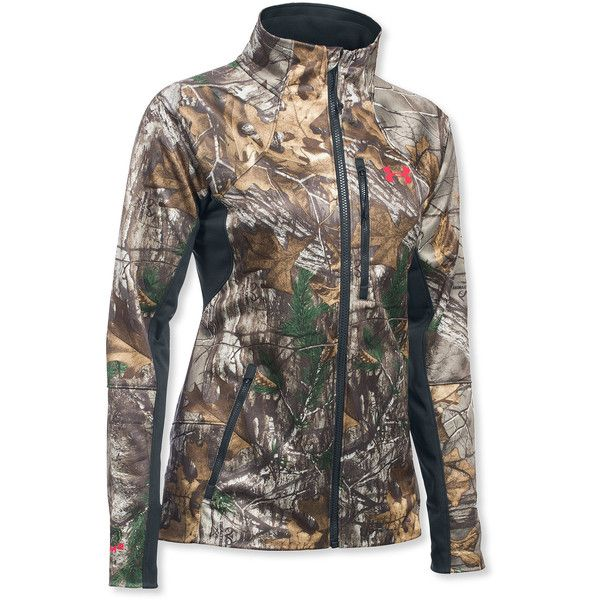 Under Armour Women's Chase Hunting Jacket ($200) ❤ liked on Polyvore featuring outerwear, jackets, camoflage jacket, camo print jacket, under armour jackets, zipper jacket and camouflage jacket