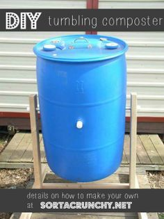 learn how to save tons of money by making your own tumbling composter could do something similar with trash can see comments in post