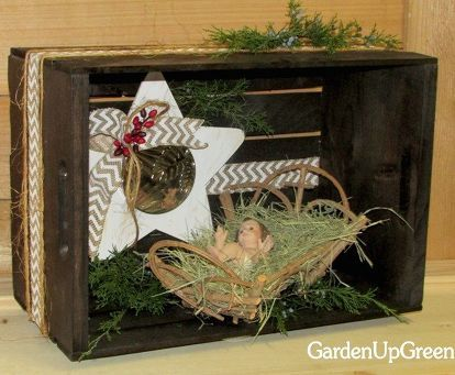 Maybe we should be adding a plain wooden crate to the top of our gift lists…  – Christmas decoration