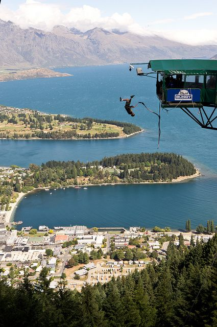 Bungy Jumping platform at Bob's Peak in Queenstown, New Zealand (by Sheetrock). #travel
